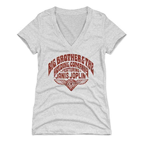 Big Brother and The Holding Company Shirt for Women (Women's V-Neck, Small, Tri Ash) - Big Brother and The Holding Company Eye R (Big Brother And The Holding Company Tour Dates)