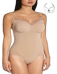 Plus Size Bodysuit Shaper Underwire Firm Tummy Control Shapewear Women