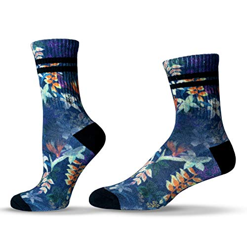 Unisox Floral Socks - Colorful Botanical Pattern Socks - Best Buds