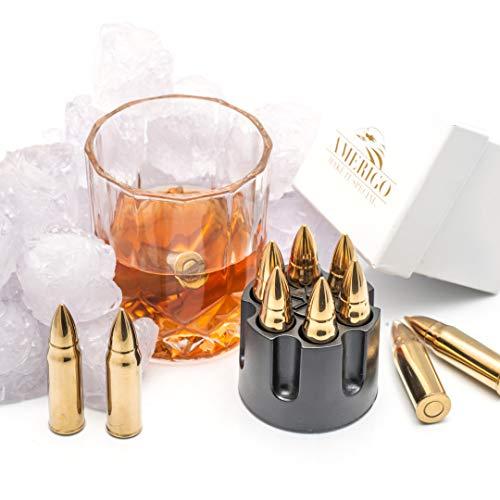 XL Or Ensemble de Cadeaux Pierre a Whisky Exclusives en Acier Inoxydable - Haute Technologie de Refroidissement – Cadeau… 6