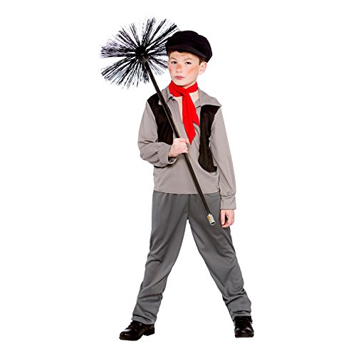 Boys Victorian Chimney Sweep Fancy Dress Up Party Costume Halloween Child Outfit -