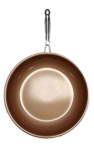"Copper Steel Pro 12"" Ceramic & Copper Non-Stick Non-Scratch Pan"