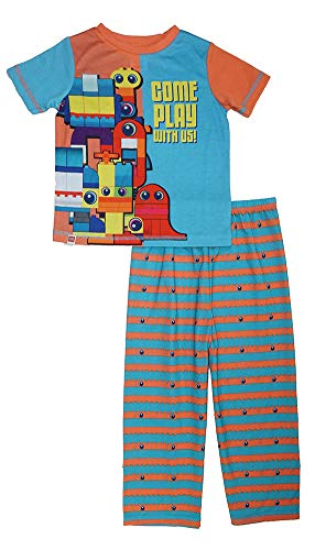 (The Lego Movie 2 Little Boys' Toddler Two-Piece Pajama Sleepwear Set, Blue/Orange,)
