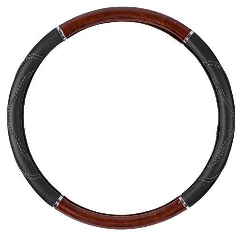 BDK SW-352-DW Dark Black 18 Inch Big Rig Steering Wheel Cover for Trailer Truck Car 18