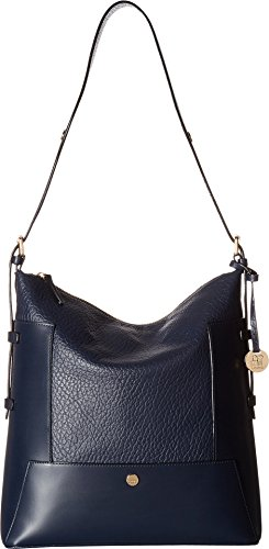 Lodis In The Mix RFID Emerson Convertible Hobo (Navy) by Lodis