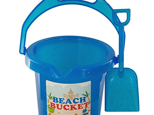 Glitter Beach Bucket with Shovel - Pack of 72