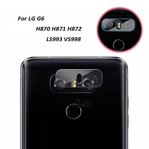 Genko-2 Pieces High Definition Ultra Thin Transparent Clear Camera Protector Lens Tempered Glass For LG G6 Glass Lens Cover