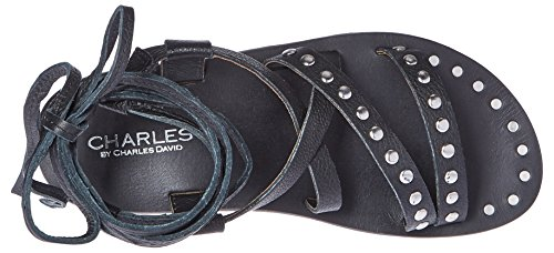 Steeler Black Charles Women's Charles by Sandal Gladiator David rwRSqRWvn0