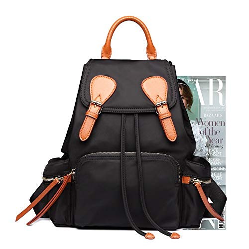Per Grande Backpack Black Da Brown Capacità Leggero Donna A Impermeabile In With Zaino Oxford Tessuto Nylon TarT7v