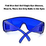 ZBSPM 2Pcs Golf Ball Finder Glasses, Find Blue Ball Golf Eagle Eye Glasses for Men Women, Finding Golf Ball Artifact, Glasses for Myopia Goggles