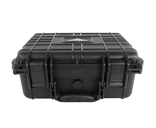 CASEMATIX Waterproof Carrying Case Designed For DBPower T20 1500 Lumens Home Theatre Projector , Remote , Power Supply , Cables and Accessories by CASEMATIX (Image #4)