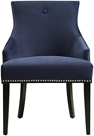 Pulaski Urban Accents Button Back Upholstered Dining Chair, 23.03 X 25.2 X 33.86 , Navy