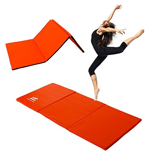 Thick Folding Panel Gymnastics Mat Gym Fitness Exercise Stretching Yoga Tumbling by Exercise Mats