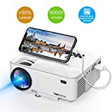 Mini Projector, T TOPVISION 2400Lux Projector with Synchronize Smart Phone Screen, Supported 1080P, 176' Display, 50,000 Hours Led,...