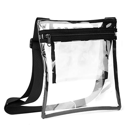 Nfl Sports Bag Purse - Vorspack TPU Clear Cross-Body Purse NFL Stadium Approves Clear Bag with Inner Pocket and Adjustable Strap for Sports Event Concert Festival
