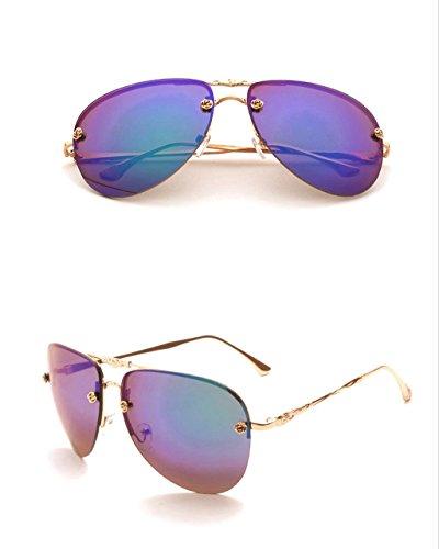 4 Mode de personnalité Retro Couleur Optional Lunettes des Lunettes de X 4 Multi Couleur Dames Soleil Soleil Lunettes IS8qaw