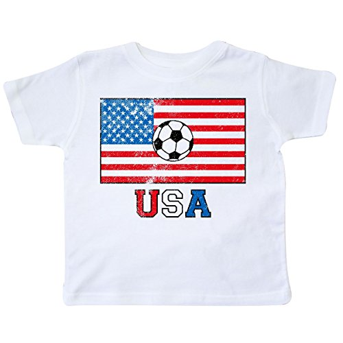 inktastic - USA Soccer Toddler T-Shirt 2T White ()