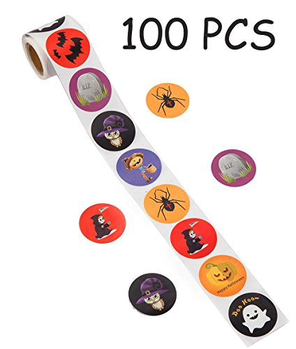Halloween Party Favors Stickers for Kids - Pumpkin Bats Spiders Ghost Decorations Gifts Supplies Bag Stuffers