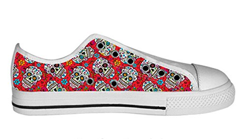 Breathable Antiskid Low Top Canvas Shoes with Day of Dead Design for Women Ladies Shoes06 yHhYkIC