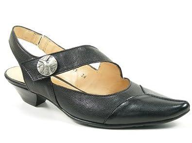 info for f7633 fe66e Fidji Schuhe Damen Sling Sandalen Sandaletten schwarz E629-596