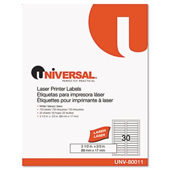UNV80011 - Universal Laser Printer File Folder Labels