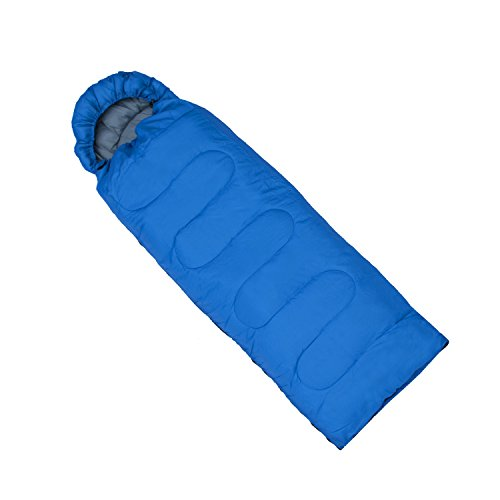 ALEKO SB6BL Insulated Sleeping Bag 4 Season Insulation Camping Hiking Outdoor 76 x 26 Inches Blue
