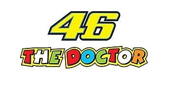 2pcs Valentino Rossi The Doctor Sticker Decal Aufkleber 18x81cm 46 Turtle Bike Car Auto Jdm Racing Tuning Dub Vag Notebook Laptop