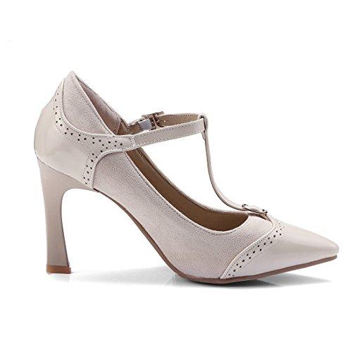 de de Otoño T Mujer Beige Tacón Zapatos de el Zapatos y la Durante Señaló Primavera Tacón Zapatos ZOxvq0pxw