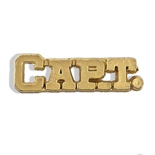 Awards and Gifts R Us 1-1/4 Inch Captain Chenille Gold Lapel Pin - Package of 20, Poly (Cast Lapel Pin)