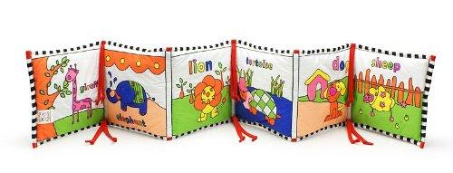 Reversible Infant-Stim Crib Bumper Panel & Book in One