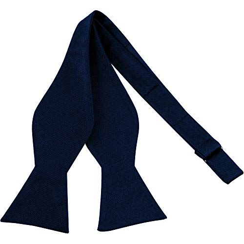 - Luther Pike Self Tie Bow Ties For Men Bowtie Tuxedo Bow Tie (Navy Blue)