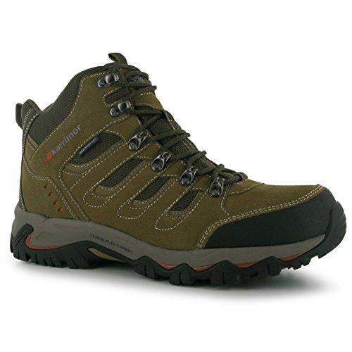 Karrimor Mens Mount Mid Walking Boots Scarpe Traspiranti Lace Up Trekking Trekking Taupe