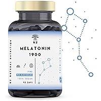 N2 Natural Nutrition Melatonina Pura 1,9 mg, 5HTP Griffonia, Vitamina B6. Alta Dosis.…