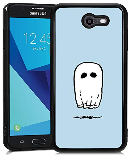 Samsung Galaxy J7 2017 Case,Flexible Soft TPU Cover Shell,Slim Silicone Black Rubber Non-Slip Durable Design Protective Phone Case for Samsung Galaxy J7 2017 -Spooky Ghost Sheet]()