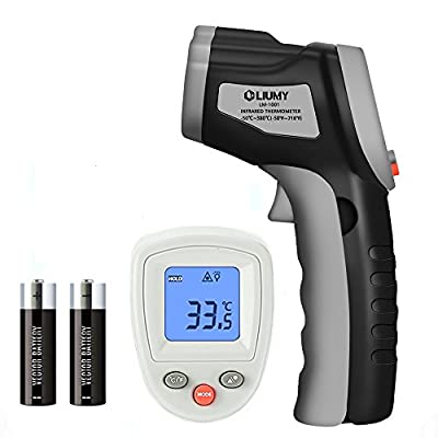 Infrared Thermometer, LIUMY -50 to 380? Digital LCD Non-Contact Laser Infrared Thermometer Gun, IR Thermometer Gun with Self-calibration / Max. Min./ Gray