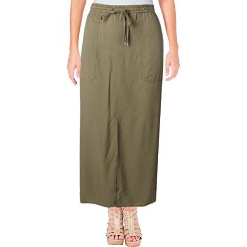 Long Cargo Skirt - Lauren Ralph Lauren Womens Karlon Cargo Twill Maxi Skirt Green L