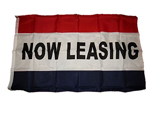 3X5 Advertising Now Leasing Marketing Flag 3X5 Brass Grommets