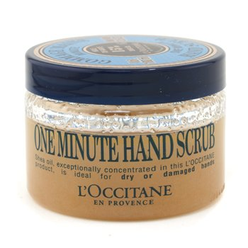 LOccitane - One Minute Hand Scrub - 100ml/3.5oz ReadyBath Total Body Cleansing Standard Weight Washcloths MSC095304