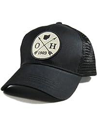 Men's Ohio Arrow Patch All Black Trucker Hat
