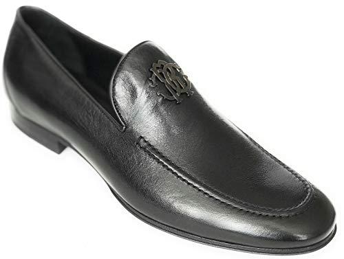 ROBERTO CAVALLI Mens Allen Leather Dress Loafer Shoes Black US 10 EU 43