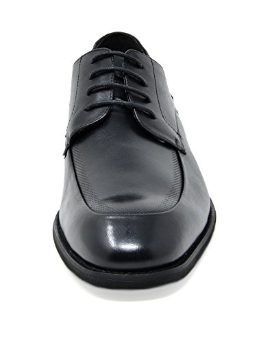 Bruno Marc Mens Washington Scarpe Oxfords In Vera Pelle 3-nero