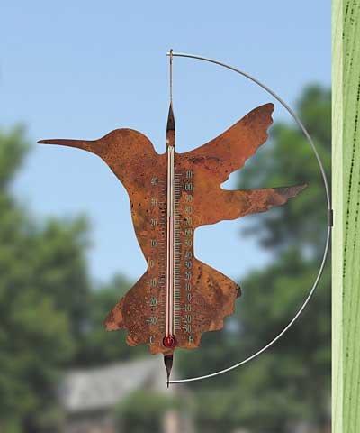 Ancient Graffiti Copper Hummingbird Thermometer (Ancient Graffiti Thermometer)