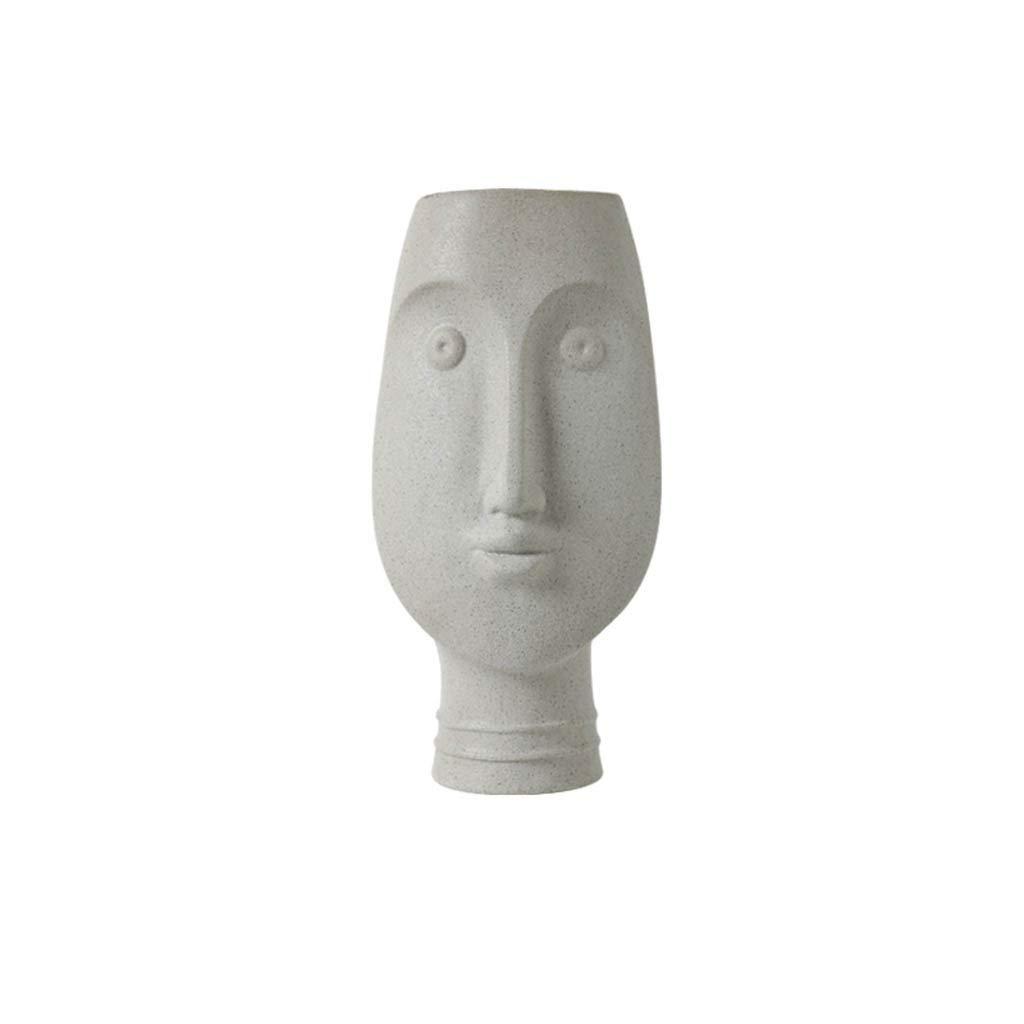 現代のセラミック花瓶ins北欧スタイルのリビングルームクリエイティブシンプルホームプラグ花瓶アート顔飾り (Edition : B) B07SRC5YZG  B