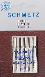 5 Schmetz Agujas para Máquinas de Coser 130/705 horas - LL para piel grosor