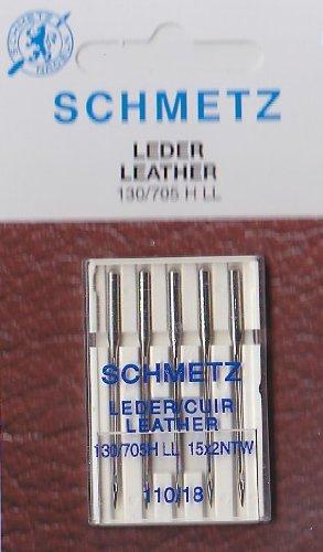5 Schmetz Nähmaschinennadeln 130/705H - LL für Leder Stärke 110/18