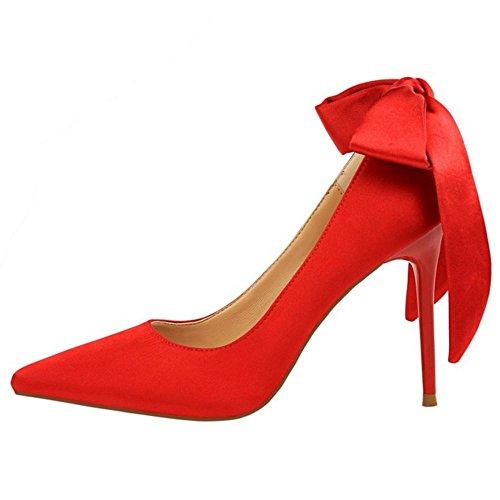 Pumps Pointy Women Heel Thin AicciAizzi Red Fashion xagqvvwR