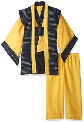 RG Costumes Samurai Costume, Yellow/Blue, Small (Yellow Ninja Kids Costumes)