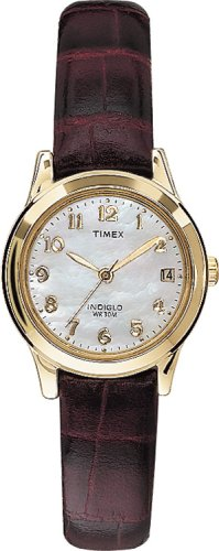 Timex-Womens-T21693-Elevated-Classics-Dress-Burgundy-Leather-Strap-Watch