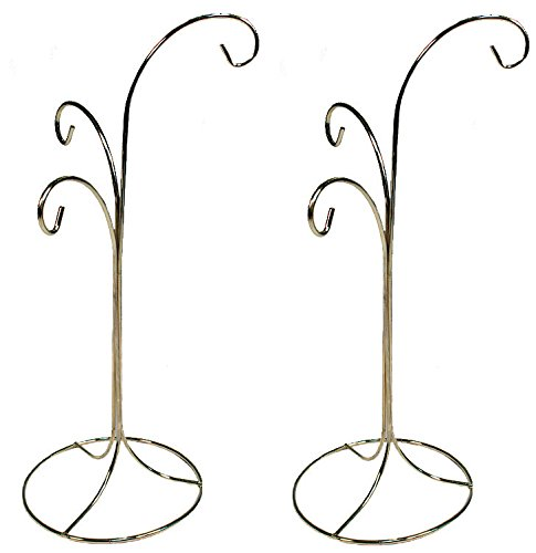 Creative Hobbies Ornament Display Stand Holder Hanger Has 3 Hooks, 13 inch Tall -Pack of 2 Stands by Creative Hobbies
