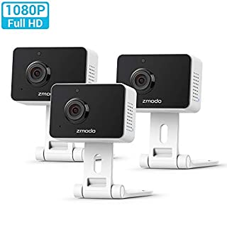 Zmodo Mini WiFi Camera, Video Baby Monitor with Camera and Audio, 1080p Wireless Security Camera, Two-Way Audio, 3 Pack
